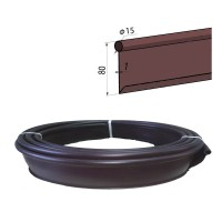 Бордюр лента Кантри МИНИ садовый пластиковый коричневый Б-1000.15.8-ПП