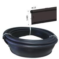 Бордюр лента Кантри МАКСИ садовый пластиковый черный Б-1000.23.14-ПП