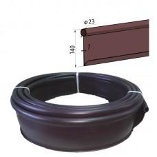 Бордюр лента Кантри МАКСИ  садовый пластиковый коричневый Б-1000.23.14-ПП