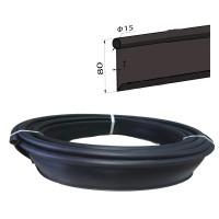 Бордюр лента Кантри МИНИ садовый пластиковый черный Б-1000.15.8-ПП