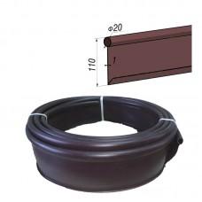 Бордюр Кантри стандартный Б-1000.2.11-ПП пластиковый коричневый