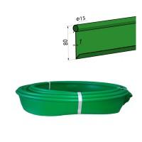 Бордюр лента Кантри МИНИ садовый пластиковый зеленый Б-1000.15.8-ПП