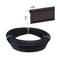 Бордюр Кантри стандартный  Б-1000.2.11-ПП пластиковый черный